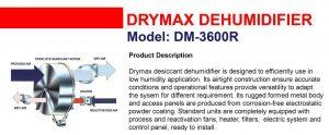 Dehumidifier Drymax DM3600R